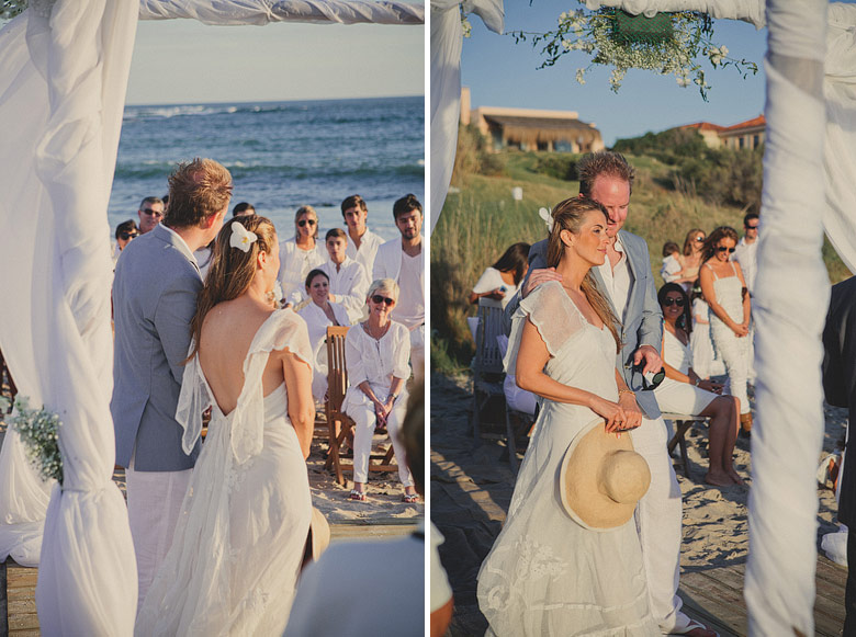 Ceremonia de casamiento en Playa VIK, Jose Ignacio